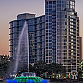 Lake Eola Water Fountain  by Susan Candelario