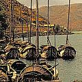 Lake Er Hai Boats by Dennis Cox