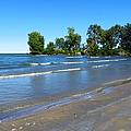 Lake Erie At Sheldon Marsh 2 by Shawna Rowe
