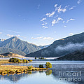 Lake Grasmere And Southern Alps Canterbury New Zealand by Colin and Linda McKie