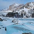 Lake Haiyaha Winter by Cascade Colors