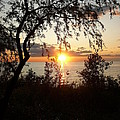 Lake Huron Setting Sun by Two Bridges North