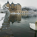 Lake In Front Of A Chateau, Chateau De by Panoramic Images