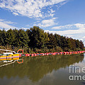 Lake Inlet With Dredger by Tim Holt
