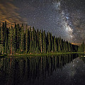 Lake Irene's Milky Way Mirror by Mike Berenson