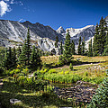 Lake Isbelle Mountains by Michael J Bauer