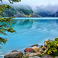 Lake Louise On A Cloudy Day by Carolyn Derstine