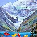 Lake Louise Poppies by Virginia Ann Hemingson