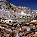 Lake Marie Snowy Range by Ed  Riche