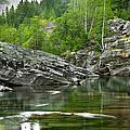 Lake Mcdonald Falls River Glacier National Park by Rich Franco