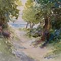 Lake Michigan Beach Path by Sandra Strohschein