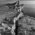 Lake Michigan Ice V by Frederic A Reinecke