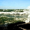 Lake Michigan In An Angry Mood by Michelle Calkins