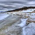 Lake Michigan Shelf Ice by Scott Wood
