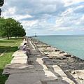 Lake Michigan Shore Near Foster Ave Beach by BJ Karp