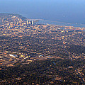 Lake Michigan Shoreline - Downtown Milwaukee  by Susan McMenamin