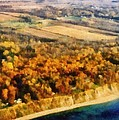 Lake Michigan Shoreline In Autumn by Michelle Calkins