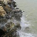 Lake Michigan Splash by Kay Novy