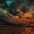 Lake Murray Fire Sky by Steven Richardson