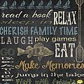 Lake Rules-Relax by Jean Plout