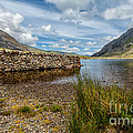 Lake Stone Wall by Adrian Evans