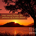 Lake Sunset With Promise Of A New Dawn by Beverly Claire Kaiya