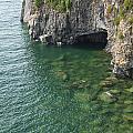Lake Superior Cliff Scene 7 by John Brueske