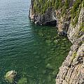 Lake Superior Cliff Scene 9 by John Brueske