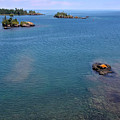 Lake Superior From Rock Harbor Light by John Meader