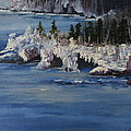 Lake Superior Ice Storm by Joi Electa