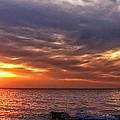 Lake Superior Sunset Panorama by Lars Lentz
