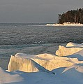 Lake Superior Winter Sunset by Kathryn Lund Johnson