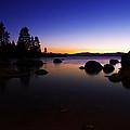 Lake Tahoe Sand Harbor Sunset Silhouette by Scott McGuire