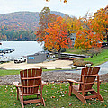 Lake Toxaway Marina In The Fall by Duane McCullough