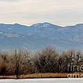 Lake Trees Mountains And Sky by Angela Koehler