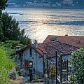 Lake View Down To Lake Como In Italy by Anna-Mari West