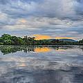 Lake Wausau Summer Sunset Panoramic by Dale Kauzlaric