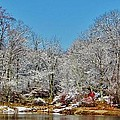 Lake Welch Snow by Thomas  McGuire