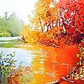 Lakescene 1 by Celine  K Yong