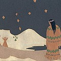 Lakota Woman With Winter Constellations by Dawn Senior-Trask