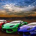 Lamborghini Triplet by Matt Malloy