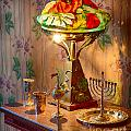 Lamp And Menorah by Inge Johnsson