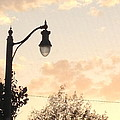 Lamp Post And Cotton Candy Sunset by Allison  Adams