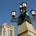Lamp Post, China by John Shaw