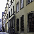 Lamp Post In Cologne Germany Alley by Teresa Mucha