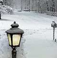 Lamppost In Snow by Brian Wallace
