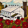 Lancaster Red Rose And Barn by Paris Wyatt Llanso