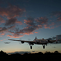 Lancasters Taking Off At Sunset by Gary Eason
