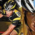 Lance Armstrong Artwork by Sheraz A