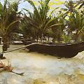Kayak On Beach by KJ DePace